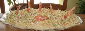 salade choux chinoiscrevette et petoncle